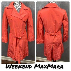 Weekend MaxMara coral water repellent trench coat